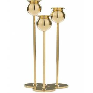 Skultuna The Tulip Candlestick Brass Set of Three