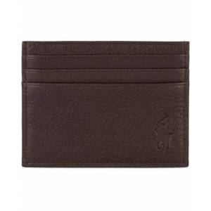 Ralph Lauren Pebble Leather Slim Card Case Brown