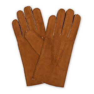 Hestra Lambskin Suede Handsewn Glove Congac