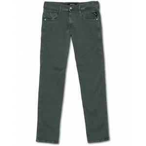 Replay Anbass Hyperflex 5-Pocket Trousers Green