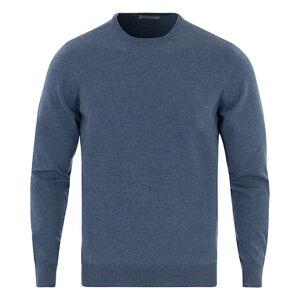 Gran Sasso Merino Fashion Fit Crew Neck Pullover Mid Blue