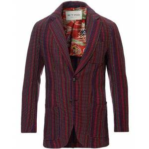 Etro Multi Colour Knitted Blazer Dark Red