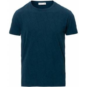 Etro Short Sleeve Tonal Paisley T-Shirt Navy