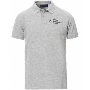 Peak Performance Original Logo Polo Medium Grey Heather