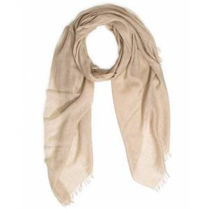 Begg & Co Staffa Cashmere/Silk Scarf Stone