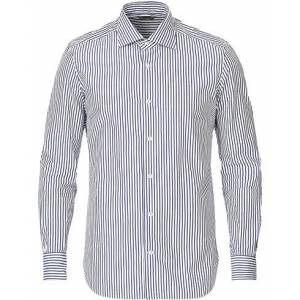 Mazzarelli Soft Striped Cut Away Shirt White/Blue