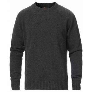 Morris Lambswool Knitted Crew Neck Grey