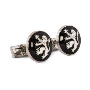 Skultuna Cuff Links The Lion Silver/Black/White