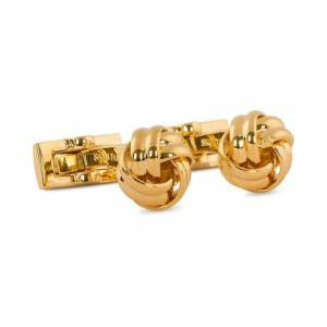 Skultuna Cuff Links Black Tie Collection Knot Gold