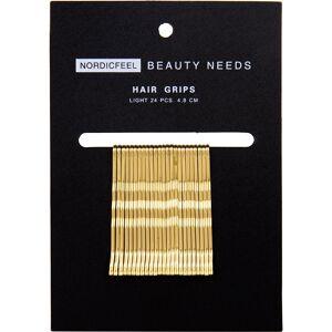 Nordicfeel Beauty Needs, Hair Grips Light 24pcs 4,8cm Nordicfeel Beauty Needs Hiuslenkit & hiusnauhat
