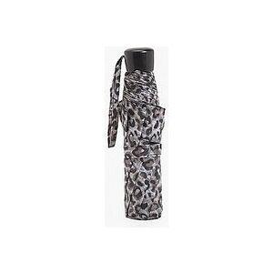 boohoo Wind Resistant Leopard Print Umbrella