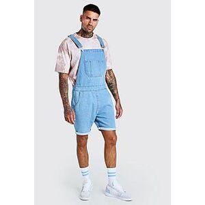 Boohoo Short Denim Dungarees  - light blue - Size: Large