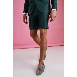 Boohoo Skinny Plain Tailored Suit Shorts