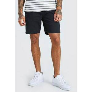 Boohoo Skinny Fit Chino Short  - navy - Size: Large