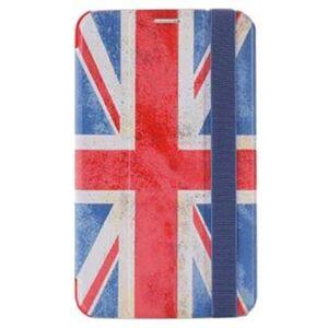PURO Samsung Galaxy Tab 3 7.0 P3200, P3210 Zeta Slim Läppäkotelo - Englannin lippu