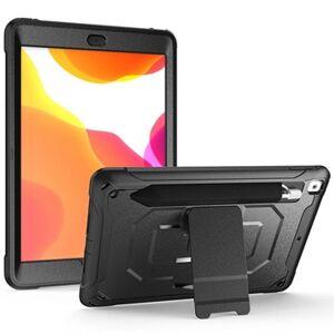 MTP Products Rugged Sarja iPad 10.2 Hybridikotelo Jalustalla - Musta