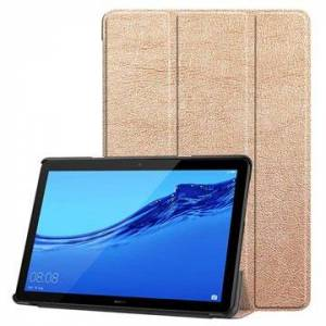 MTP Products Tri-Fold Sarja Huawei MediaPad T5 10 Läppäkotelo - Samppanja Kulta