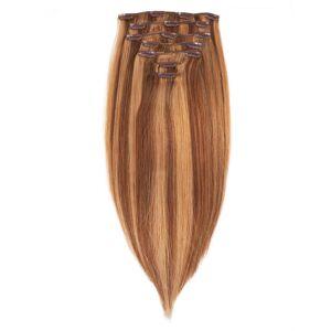 Rapunzel® Aidot hiustenpidennykset Clip-on Pidennykset Original 7 pieces M5.0/7.4 Golden Brown Mix 50 cm