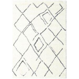 RugVista 100X160 Shaggy Medina Everyday Matto Moderni Valkoinen/Creme/Beige