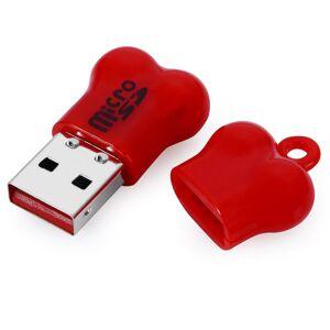mini luuta tyyli micro SD-kortinlukija tietokone - punainen