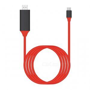 BSTUO USB3.1 Type-C-HDMI-kaapeli 4K HDTV-kaapelisovitin -Red (2m)