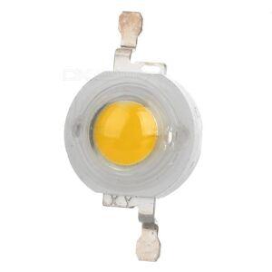 JRLED 3W 1-LED-lamppuhelmi Lmmin Valkoinen 3200K - Valkoinen + Lpinkyv (3.5v)