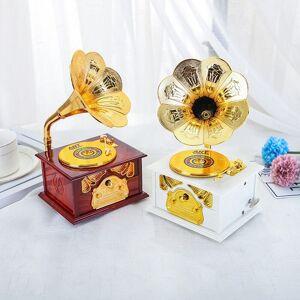 Classic Gramofoni Soittorasian Vintage Style Trumpetti Sarvi Sisustus