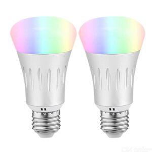 2kpl Ywxlight E27 7W WiFi lyks Lamppu APP RC RGBW Svy Lamppu niohjaus Valoa