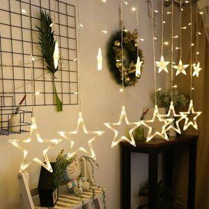 Ywxlight LED Thti Palaa Riipus String Jouluvalot Loma Neonvalot Rullaverho Valot