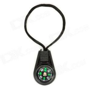 Kannettavat Outdoor Mini Analoginen kompassi w / hihna - Musta