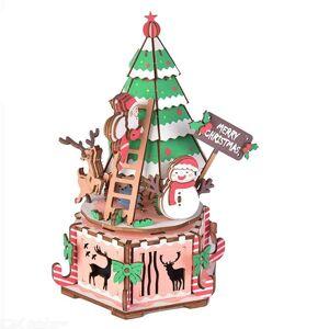 3D Puinen DIY Palapeli Soittorasian Joululahja Lapsille Kids