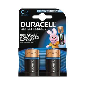 Duracell Battery Ultra Power C-type 2pcs