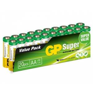 Gp Power Batteri Super Alkaline 20pcs Aa/lr6