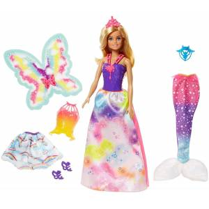 Barbie Dreamtopia Doll with 3 costumes (FJD08)