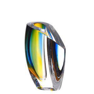 Kosta Boda Mirage Sinen/Meripihka Vaasi 15,5 cm