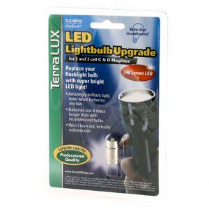 terralux LED-päivitys 4-6 C&D Maglite yhteensopiva, 140 lm