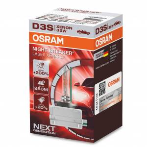 OSRAM Xenon-poltin Osram Xenarc Night Breaker Laser 200%, D3S