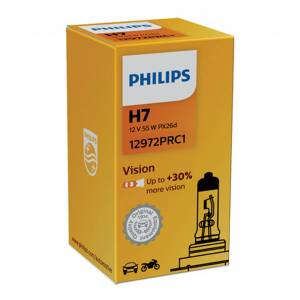 Philips Halogeenipolttimo PHILIPS Vision +30%, 55W, H7