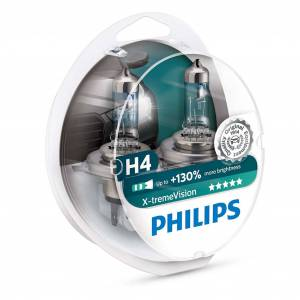 Philips Halogeenipolttimo PHILIPS X-TremeVision +130%, 60/55W, H4