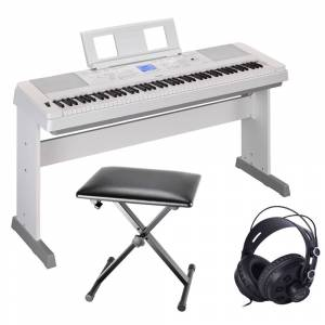 Yamaha DGX-660 Portable Grand White Package
