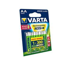 Rechargeable Varta 4x AA paristo