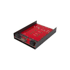 StarTech.com 35S24M2NGFF asemapaikkaan asennettava paneeli 8,89 cm (3.5') Liitinpaneeli Musta, Punainen
