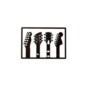 Homemania Seinäkoriste kitara - Valkoinen/musta
