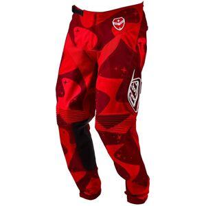 Troy Lee Designs SE LTD Cosmic Camo Pants  - Punainen - Size: 28