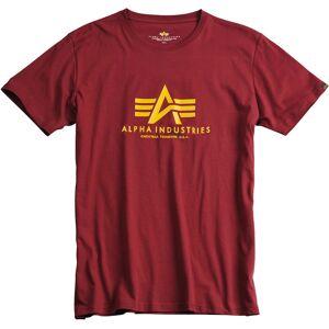 Alpha Industries Basic T-paita  - Punainen - Size: S