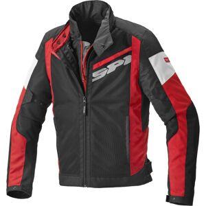 Spidi Breezy Net H2Out Moottori pyörä tekstiili takki  - Musta Punainen - Size: S