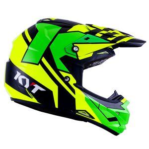 KYT Cross Over Ktime Motocross kypärä  - Vihreä Keltainen - Size: XS