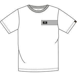 Alpha Industries Reflective Stripes T-paita  - Valkoinen - Size: 2XL
