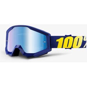 100% Strata Extra Motocross suojalasit  - Sininen Keltainen - Size: yksi koko