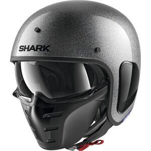 Shark S-Drak Glitter Jet kypärä Hopea unisex S